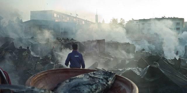 Incendie dans un bidonville à Casablanca