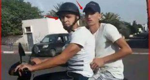 خطير مواطن يتبع جوج شفارة بالطوموبيل في الشارع العام